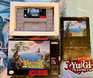 Equinox (Super Nintendo SNES 1994) [w/ box and manual. Authentic and tested!]
