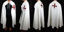 Mantello templare bianco con croce rossa