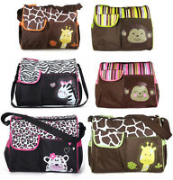 Baby Nappy Waterproof Changing Messenger Bag Giraffe/Zebra/Leopard Designs