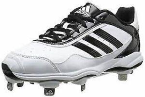 NIB Adidas Abbot Pro Metal 2 Women's Metal Spike Softball Shoes White/Black