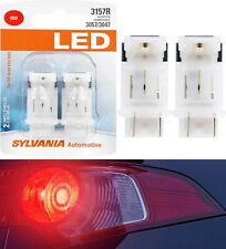 Sylvania LED Light 4157 Red Two Bulbs Front Turn Signal Replace Stock Show Use