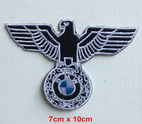 BMW Eagle logo badge clothes Iron on Sew on Embroidered Patch appliqué