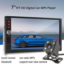 "7"" Bluetooth TFT Screen Car Audio Stereo MP5 Player 12V Auto 2-Din AUX FM USB SD"