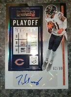 2020 Panini Contenders Rookie Playoff Ticket RC Auto Darnell Mooney Bears /99