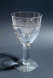 """LARGE CRYSTAL WATER GOBLET - Horizontal Cut Rings, Thick Stem - 15oz - 7.5"""""""