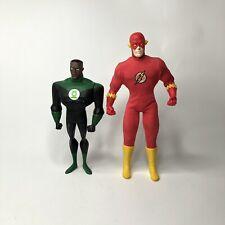"DC Justice League Unlimited Green Lantern Flash  10"" figure Lot Mattel Collector"