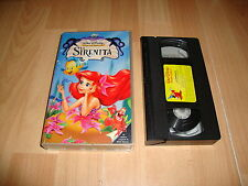 LA SIRENITA 1 DE WALT DISNEY EN VHS CLASICO NUMERO 28 DE 79 MINUTOS BUEN ESTADO