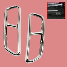 Steel Pipe 2x Cylinder Tail Cover Trim Exhaust Fit for Audi A6 A7 C7 2016-2018