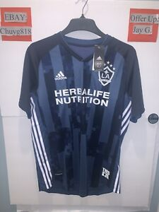 New Adidas LA Galaxy MLS Away Jersey Authentic 2019 Men's Sz:Large Navy Blue NWT