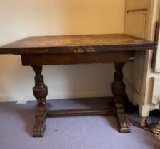 More details for solid wood antique extendable table