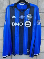 New Adidas Impact Montreal Authentic MLS Soccer Jersey Mens Size XL Long Sleeves