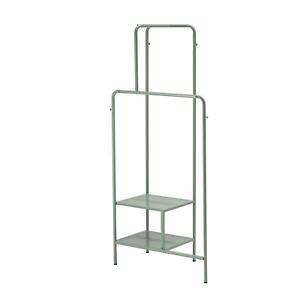 Appendi abiti grigio verde con 2 ripiani 80x170, Stand per vestiti, NIKKEBY Ikea