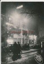 AK,Foto, RAD 7/290, Groningen, Blick auf Hotel Frigge bei Nacht, 1941; 5026-255