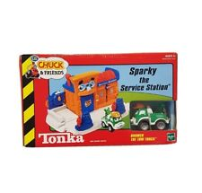 Tonka Hasbro Lil' Chuck & Friends Sparky The Service Station Truck Car Playset
