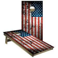 USA Distressed Flag Cornhole Board Wrap Decal American Flags Laminated 2 Decals