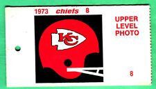11/4/73 KC CHIEFS/SD CHARGERS NFL MEDIA PASS CARD