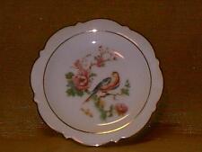 Vintage Royal Bayreuth Pin Dish-Trinket Tray-Pink Roses & Bird-Germany