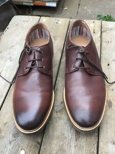CLARKS BROWN LEATHER MENS SHOES SIZE 8.5