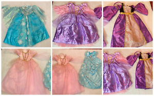 Disney Parks and Store Princess Dress Up Costume Lot Size 5 6 Elsa Rapunzel