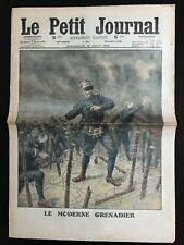 Le petit Journal illustré 15/8/1915; Moderne grenadier/ Automobile sous flèchett