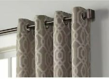 allen + roth Keldgate 84-in Cobblestone Light Filtering Single Curtain Panel