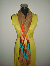 yellow green summer straight dress w/ long scarf