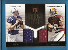 ANDREW LUCK ROBERT GRIFFIN III RG3 ROOKIE JERSEY CARD #d 102/149 Colts REDSKINS