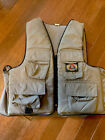 """Vtg  Stearns Anglers Fishing Life Vest w/ Pull Cord Adult Large XL 42""""-50"""" Chest"""