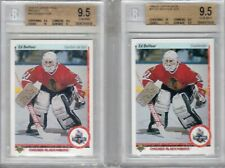 ED BELFOUR UPPER DECK ROOKIE FRENCH AND AMER BOTH BGS 9.5
