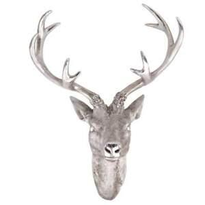 Hirschgeweih Hirschkopf Geweih 10-Ender groß Farbe Silber