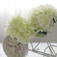 20x Artificial White Hydrangea Flowers Head Wedding Party Silk Flower Decor