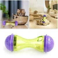 Cat Dog Feeder Plastic Funny Pet Food Dispenser Treat Toys Puppy Leakage Ba D1W0