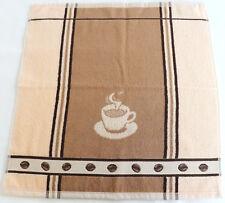 2x Handtücher Kaffee Frottee Espresso Kracht Küche Tücher Frottier Bohnen Beige