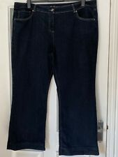 FAB DEBENHAMS DARK BLUE BOOTCUT DENIM JEANS - SIZE 22!!