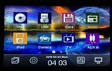 "6.2"" Double Din In-dash Car Stereo With GPS/DVD/CD/Radio/BT/Camera/Analog TV."
