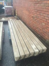 10ft Reinforced slotted Reinforced Concrete Posts for fencing MADE TO ORDER
