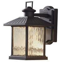 "Quoizel Newbury 12/"" LED Outdoor Small Wall Lantern Mystic Black NYL8407K"