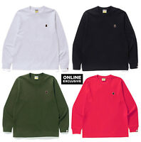 【S-3XL】ONLINE EXCLUSIVE A BATHING APE Men's ONE POINT L/S TEE Long Sleeve New