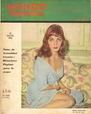 JOAN COLLINS - Extremely Rare Vintage Magazine MUNDO from ARGENTINA 1955 C#73