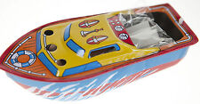 2x TIN TOY POP POP CANDLE POWERED BOATS INCLUDES 4 FUEL CANDLES  STEAM BOAT