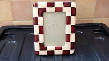 Motivo a scacchi in ceramica attraente cornice fotografica