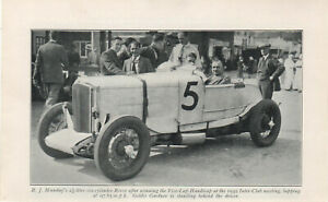 1949 Brooklands Print R J Munday's 2 1/2 Litre Six Cylinder Rover 1932 Club Meet