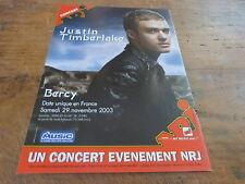 JUSTIN TIMBERLAKE - BERCY 2003!!!!!!FRENCH PRESS ADVERT