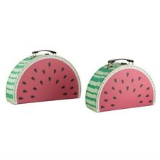 Set of 2 Watermelon Suitcases Storage Vintage Boxes School
