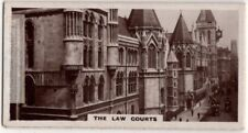 Royal Law Courts of Justice London England  1920s Trade Ad Card