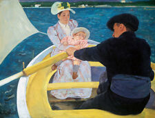 "The Boat Trip by Mary Cassatt, Hand Painted Oil Painting Reproduction, 30"" x 22"""