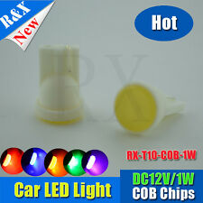 2PCS Yellow amber color T10 W5W 194 168 SMD COB High Power 1W LED PARKING LIGHTS