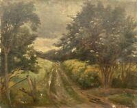 Impressionist Olaf Simony Jensen 1864-1923 Landschaft mit Feldweg beschädigt