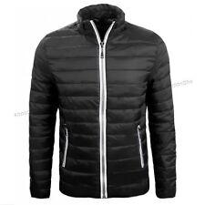 Piumino uomo 100 grammi ecopiuma giacca giubbino nero Giubbotto M L XL XXL XXXL
