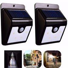 2x Lampada solare esterno interno giardino faretto fotovoltaico sensore LED faro